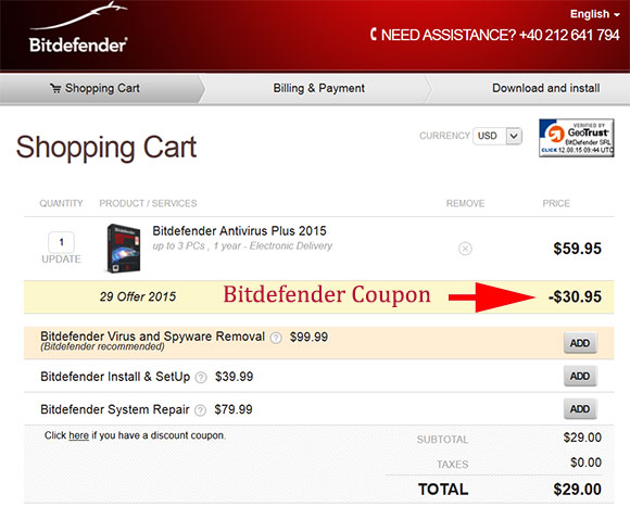 Bitdefender Antivirus Plus Coupon Code