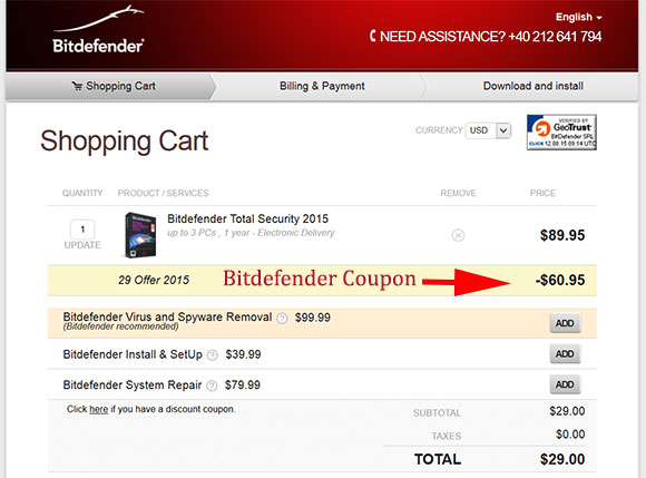 Bitdefender coupon codes