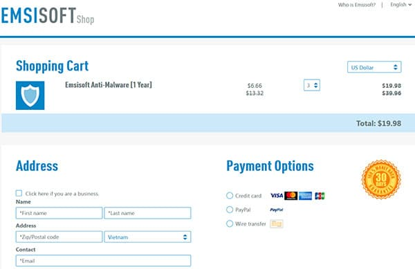 Emsisoft discount code