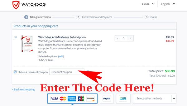 Watchdog Anti-Malware coupon